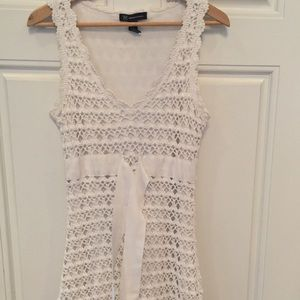ADORABLE Crocheted white dress !!!
